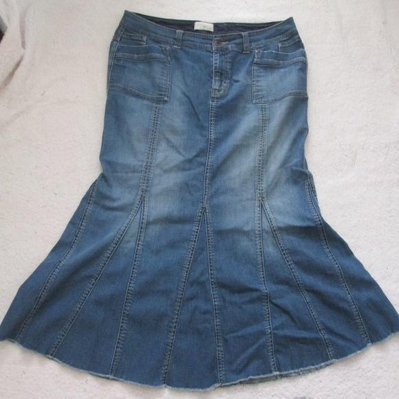 e329e2f10 Venezia Skirts | Mermaid Denim Skirt Long Modest Jean | Poshmark